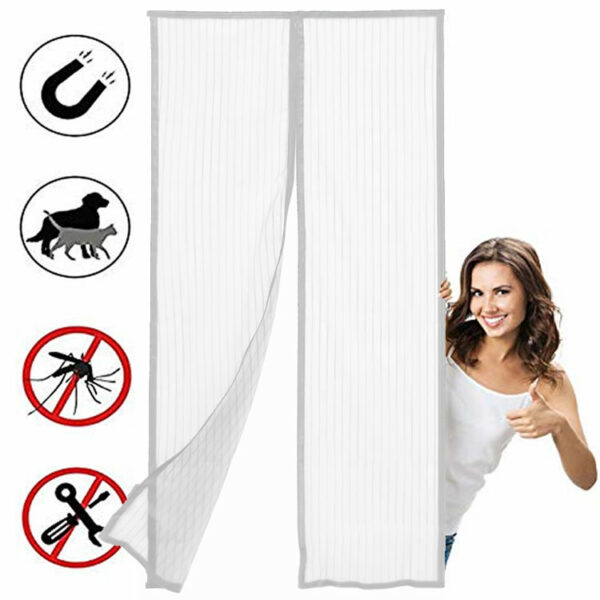 best white magnetic screen door