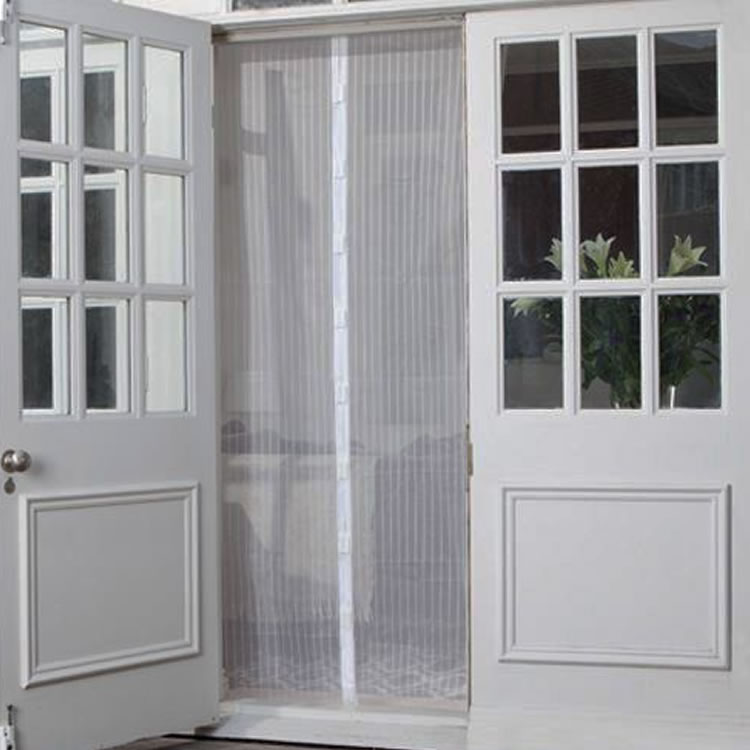 magnetic screen door white