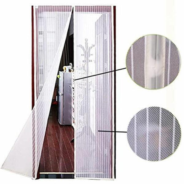 white magnetic screen door
