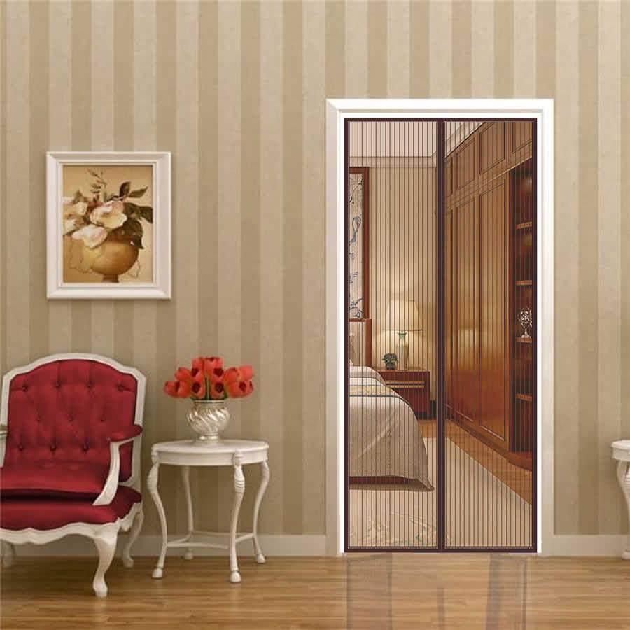 brown magnetic fly screen doors