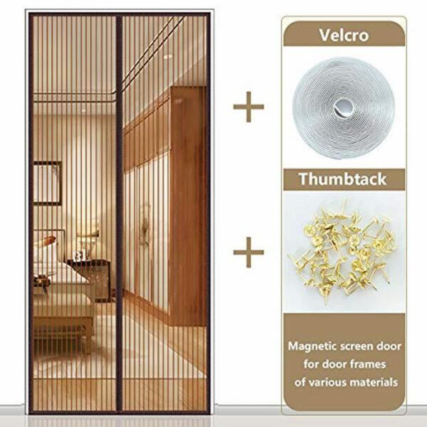 brown magnetic flyscreen door